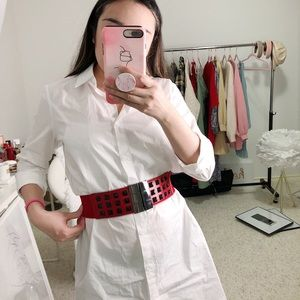 Accessories - Studded Red Belt